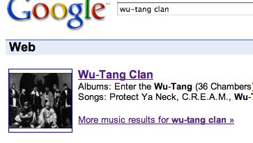 Sökresultat för Wu-Tang Clan frå Google